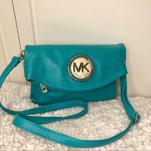 Michael Kors Turquoise Leather Crossbody Bag